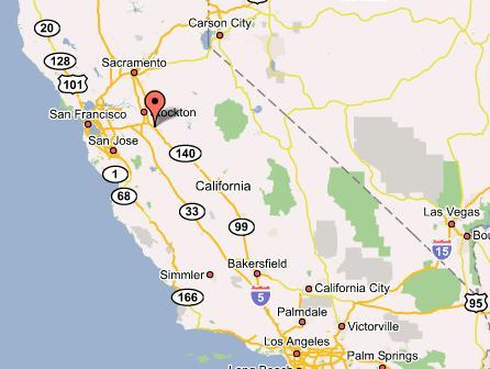 Directions Modesto Office - California map modesto